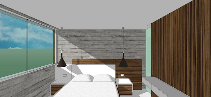 Apto. N°5. Habitación secundaria Cuartos de estilo minimalista de MARATEA estudio Minimalista