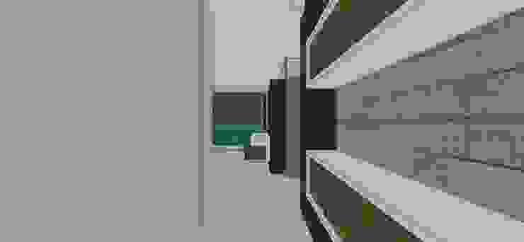 Apto. N°5. Acceso Habitación principal Cuartos de estilo minimalista de MARATEA estudio Minimalista