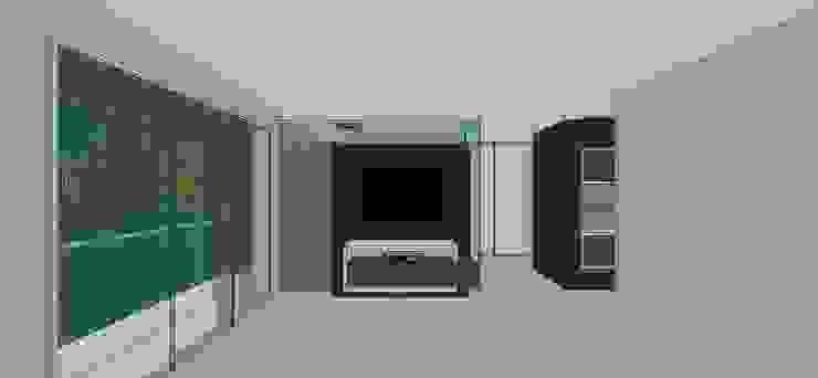 Apto. N°5. Habitación principal. Cuartos de estilo minimalista de MARATEA estudio Minimalista