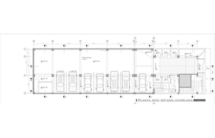 Semisótano de estacionamineto de MARATEA estudio Minimalista