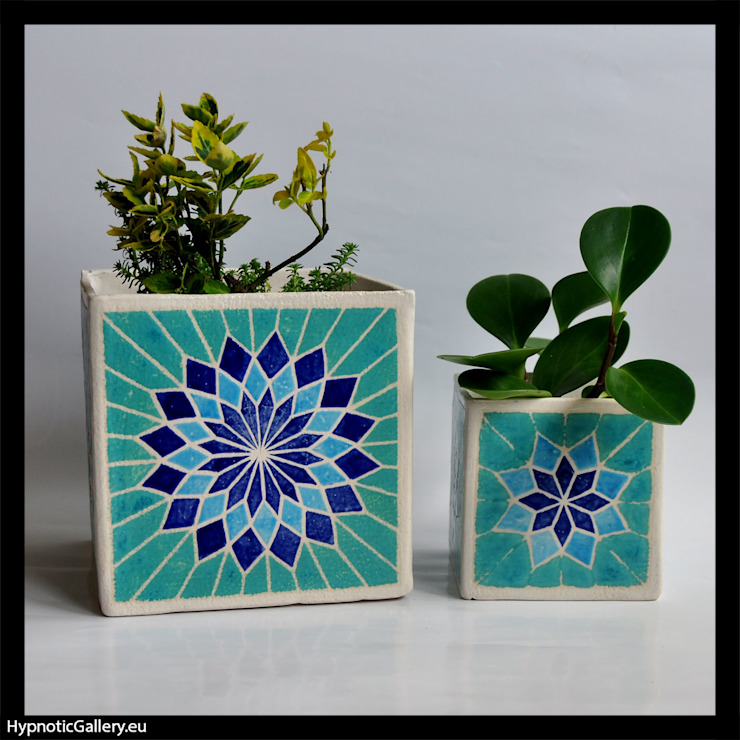 homify HouseholdPlants & accessories Ceramic Turquoise