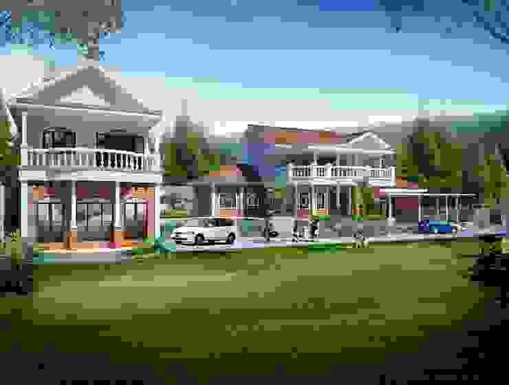 House in Puncak:pedesaan  oleh Evolver Architects, Rustic