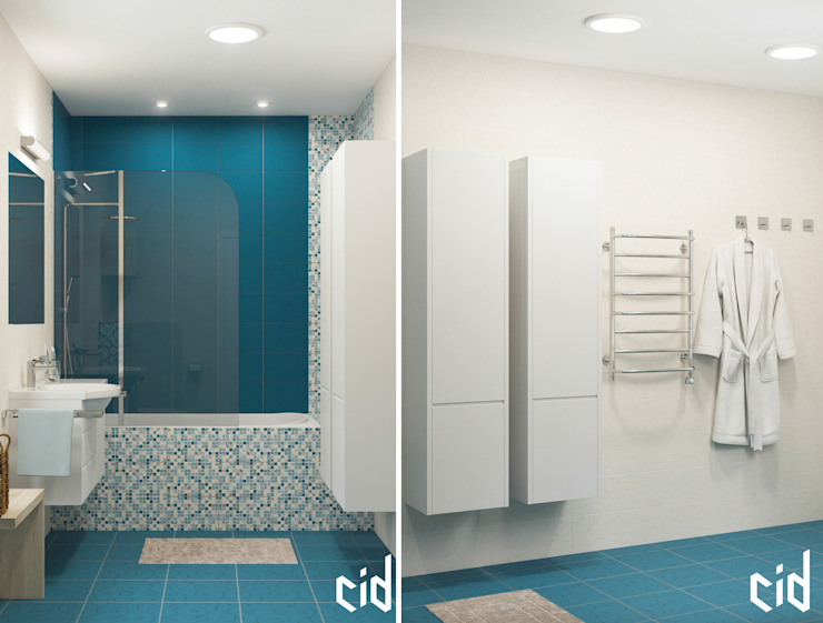 Center of interior design Modern Bathroom