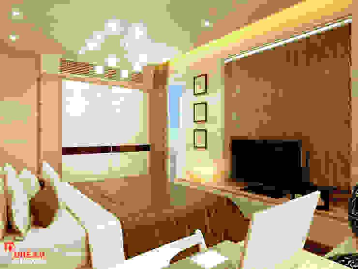 Thiết kế thi công căn hộ chung cư Time City. Hà Nội: hiện đại  by Công ty TNHH Thiết kế và Thi công Dream Space, Hiện đại Đồng / Đồng / Đồng thau