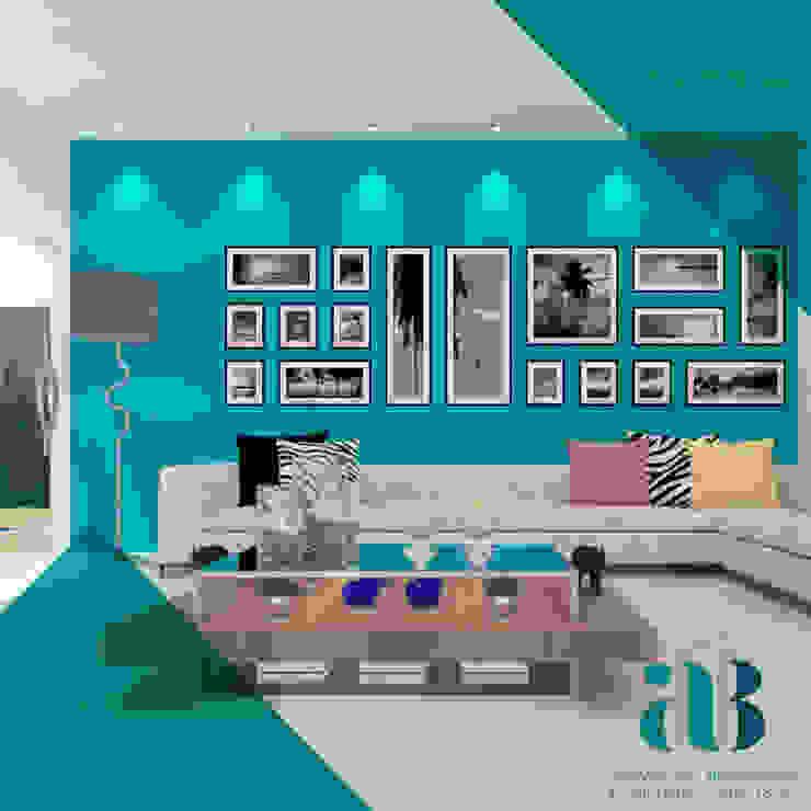 Arquiteta Alexandra Brusnardo Eclectic style living room