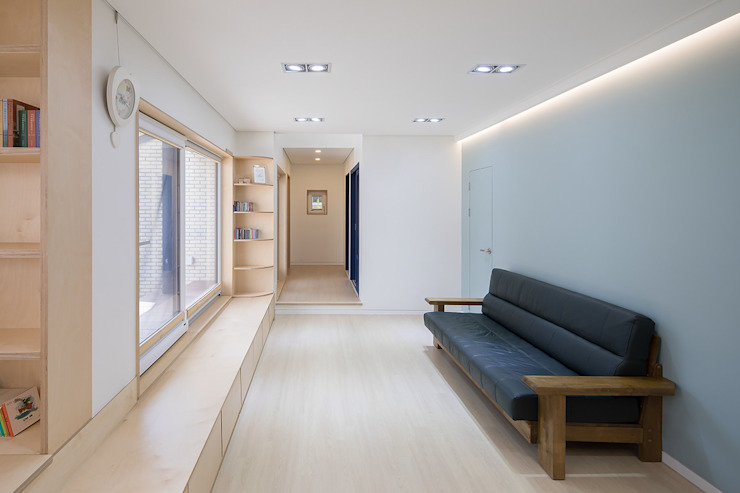 Стены и пол в стиле модерн от 소하 건축사사무소 SoHAA Модерн