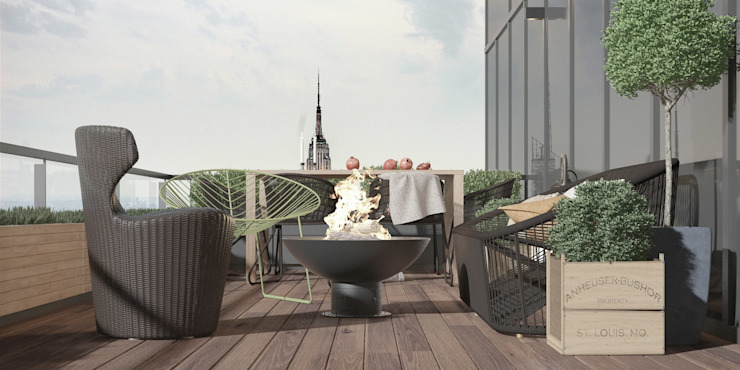 Balcones y terrazas de estilo ecléctico de ART Studio Design & Construction Ecléctico