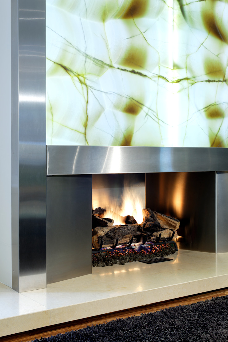 Fireplace Detail by Douglas Design Studio Modern
