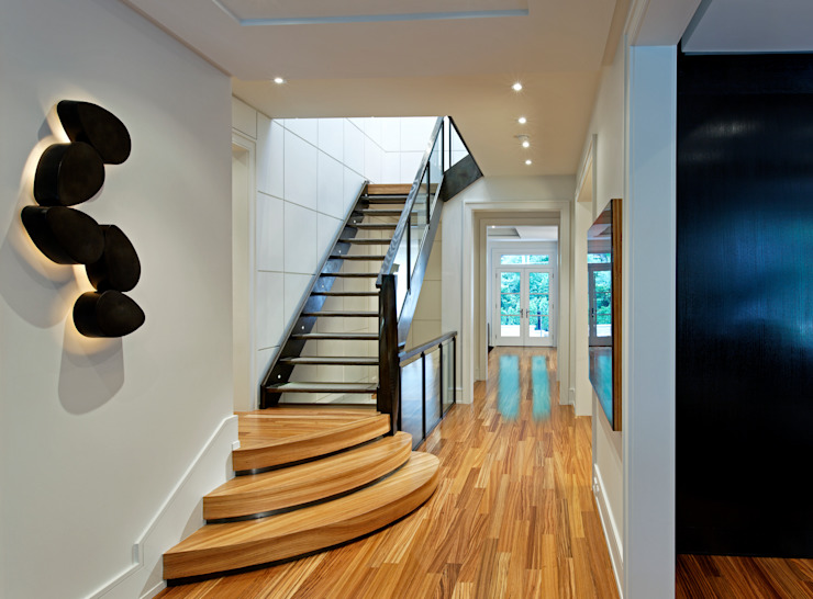 Staircase Modern Corridor, Hallway and Staircase by Douglas Design Studio Modern