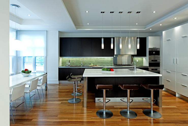 Kitchen & Island Modern kitchen by Douglas Design Studio Modern