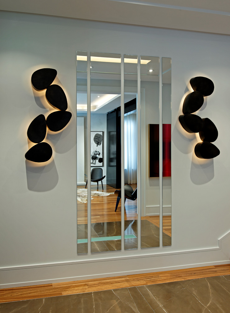 Hallway Art & Lighting Modern Corridor, Hallway and Staircase by Douglas Design Studio Modern