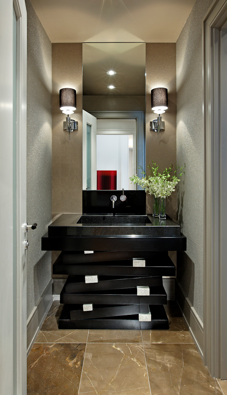 Powder Room Modern bathroom by Douglas Design Studio Modern