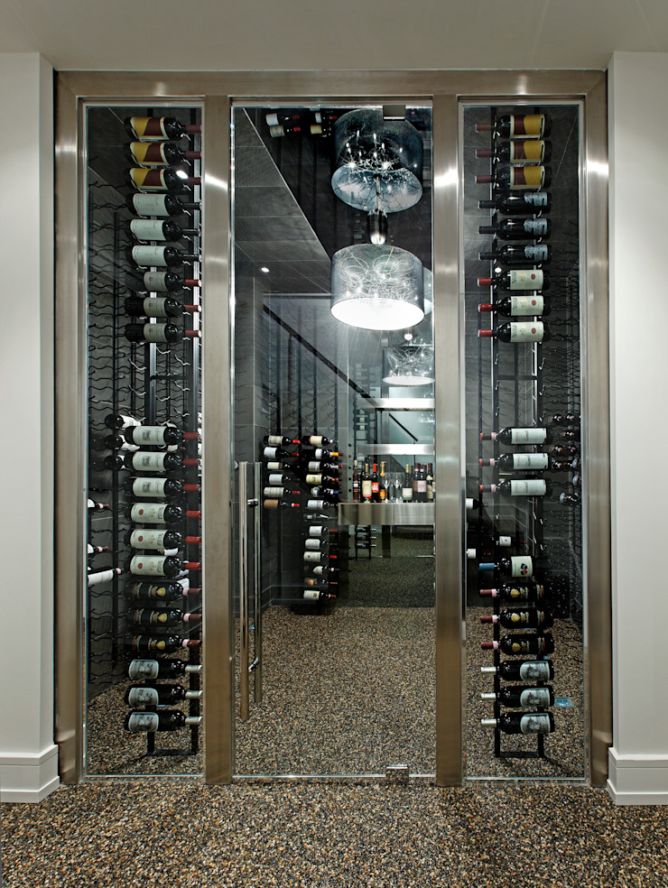 Modern Wine Cellar by Douglas Design Studio Modern Metal