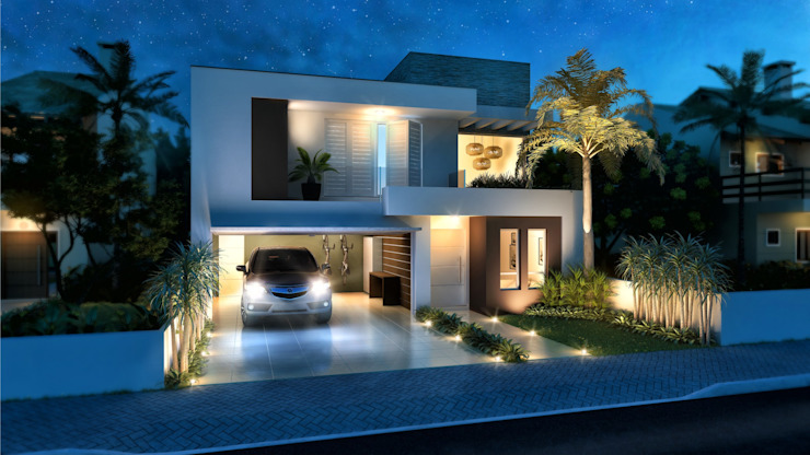 CONDOMINIO RESIDENCIAL daniel villela arquitetura Casas minimalistas