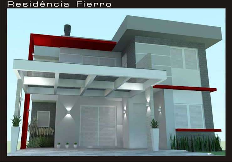 RESIDENCIA FIERRO daniel villela arquitetura Casas minimalistas
