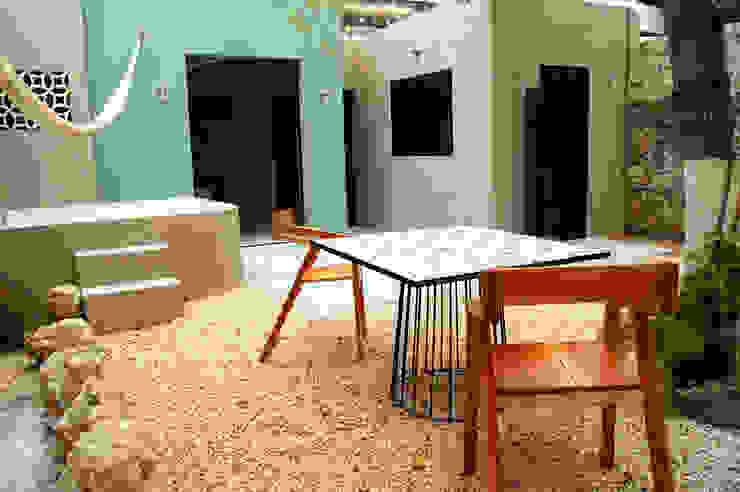 Terraza Patio Quinto Distrito Arquitectura Balcones y terrazas eclécticos Azulejos Azul