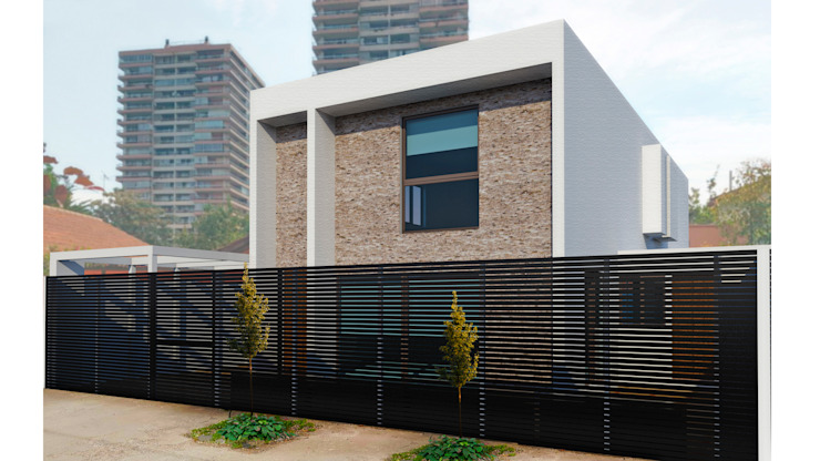 CASA SF Casas estilo moderno: ideas, arquitectura e imágenes de NEF Arq. Moderno