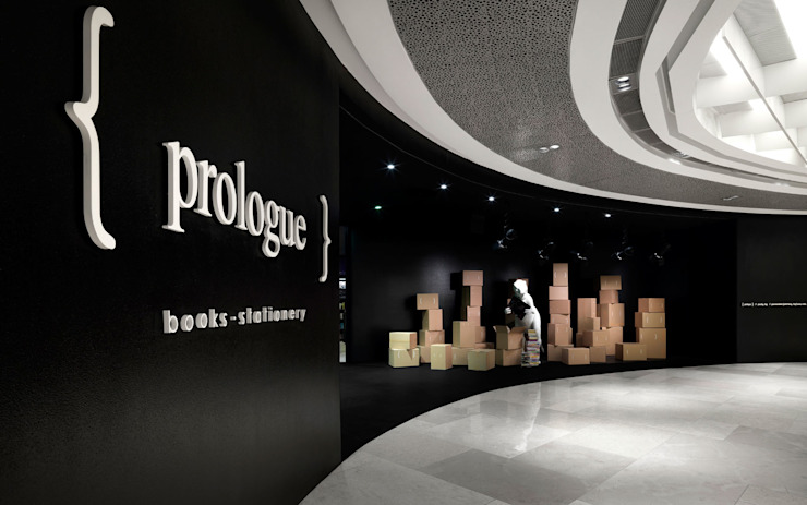 Prologue Bookstore Modern offices & stores by MinistryofDesign Modern
