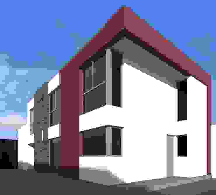 alternativa 1 desde fondo. Casas modernas: Ideas, imágenes y decoración de Juan Pablo Muttoni Moderno