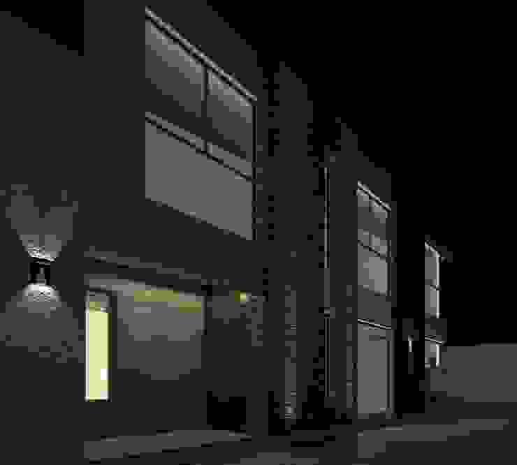 Alternativa 2 desde portón de ingreso. Casas modernas: Ideas, imágenes y decoración de Juan Pablo Muttoni Moderno