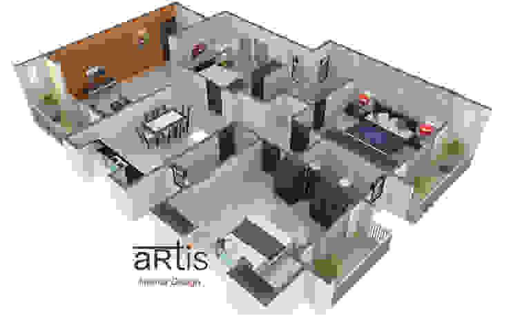 3D models Minimalist bedroom by ARTis Interior Design Minimalist