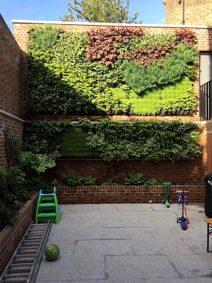 Living wall completed by Jane Harries Garden Designs