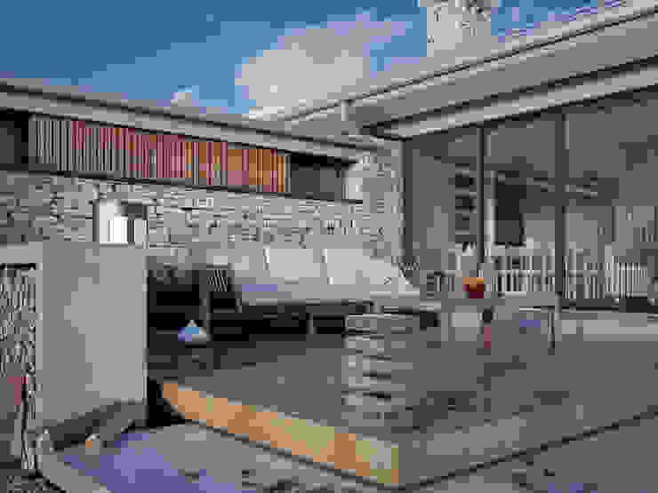 Modern style balcony, porch & terrace by Biuro Projektów MTM Styl - domywstylu.pl Modern