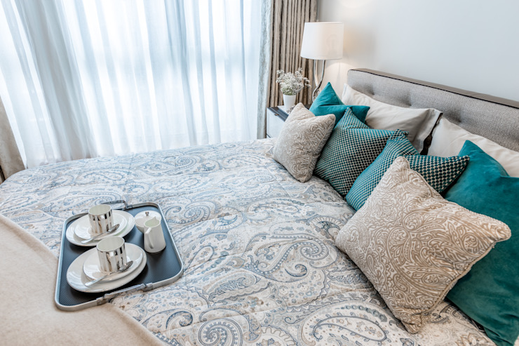 Master Bedroom Hampstead Design Hub Modern style bedroom Grey