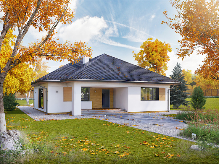 Rumah oleh Biuro Projektów MTM Styl - domywstylu.pl, Modern