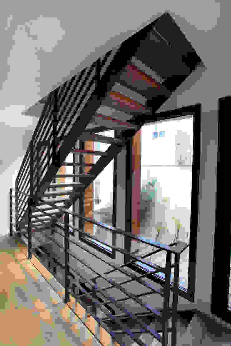 Pasillos, vestíbulos y escaleras modernos de Rusticasa Moderno Madera Acabado en madera