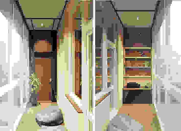 Varandas, alpendres e terraços ecléticos por IK-architects Eclético