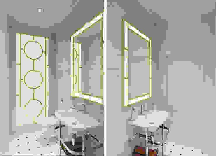 Banheiros ecléticos por IK-architects Eclético