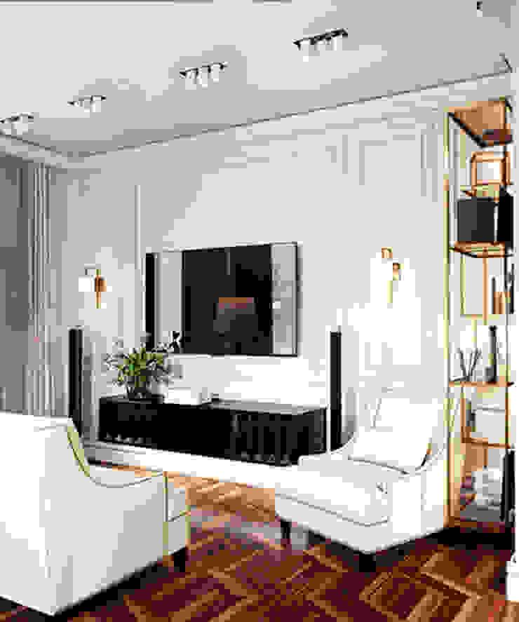 Salas de estar ecléticas por IK-architects Eclético