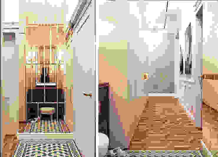 Corredores, halls e escadas ecléticos por IK-architects Eclético