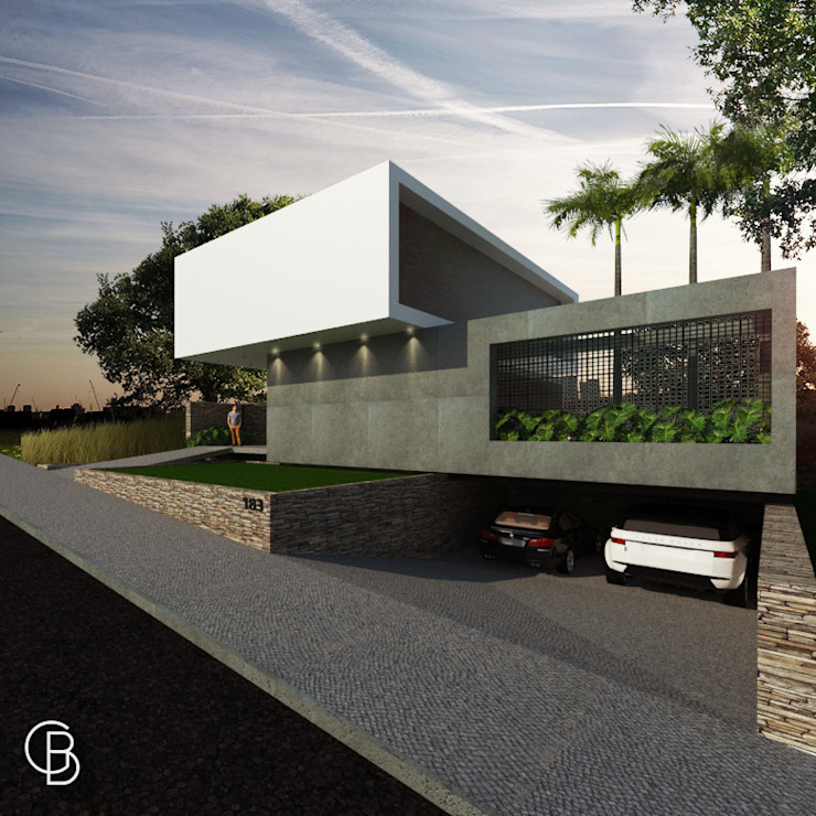 Casa G|F Gustavo Borges Arquitetura + Engenharia Casas minimalistas Concreto