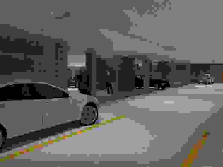 Sótano de parqueaderos Garajes de estilo moderno de Project arquitectura s.a.s Moderno