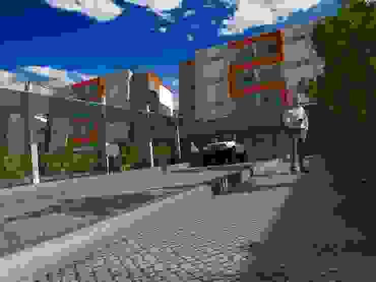 Fachada principal del proyecto, acceso Casas modernas de Project arquitectura s.a.s Moderno