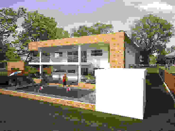 Fachada lateral y posterior Casas de estilo minimalista de Project arquitectura s.a.s Minimalista