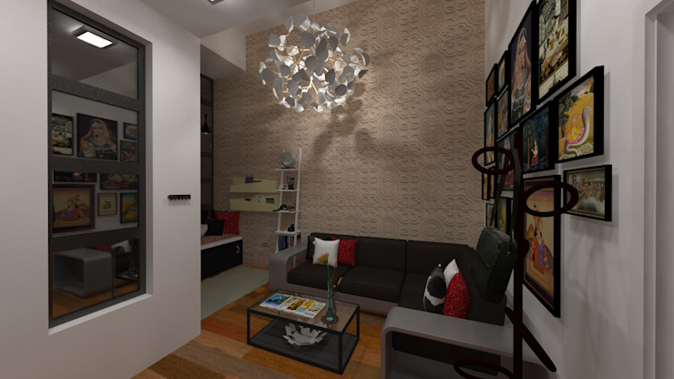 Vivienda Unifamiliar Milagro N.A. ARQUITECTURA Salas de estilo moderno