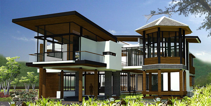 House @ ปากช่อง โดย SDofA Architect โมเดิร์น