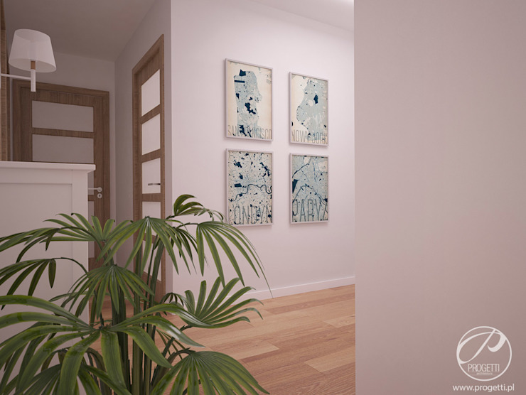 Modern Corridor, Hallway and Staircase by Progetti Architektura Modern