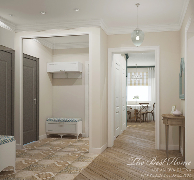 Best Home Classic style corridor, hallway and stairs Beige