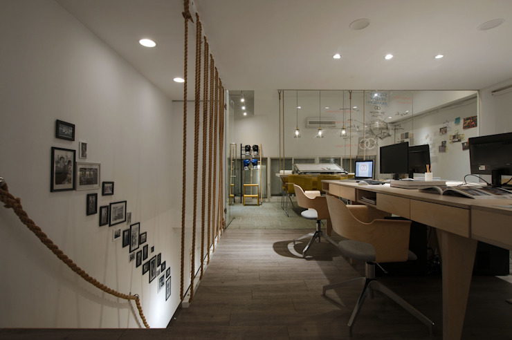 以特殊的麻繩作為設計概念的延伸。 根據 有偶設計 YOO Design 北歐風