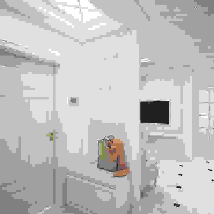 Best Home Klassischer Flur, Diele & Treppenhaus Weiß