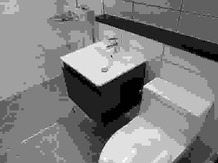 미사강변도시 아파트 신혼부부 20평 인테리어 모던스타일 욕실 by 마당디자인 / MADANGDESIGN 모던