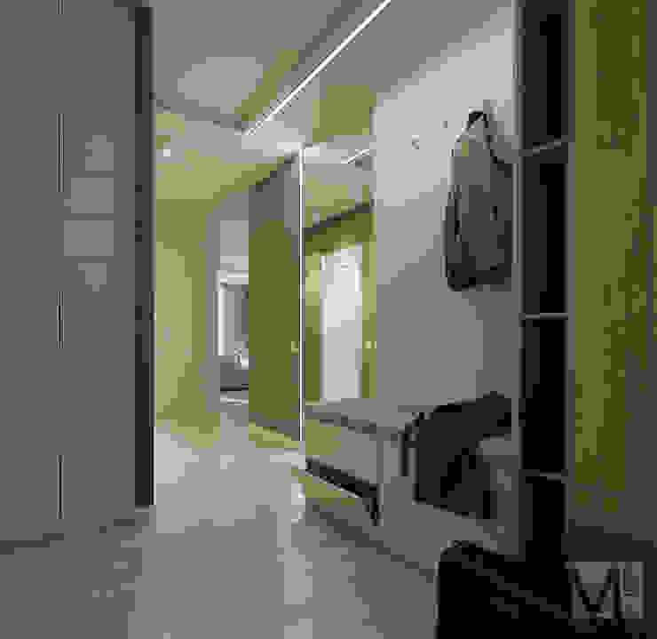 斯堪的納維亞風格的走廊,走廊和樓梯 根據 M5 studio 北歐風 木頭 Wood effect
