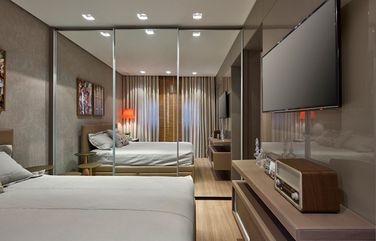Bedroom by CLS ARQUITETURA, Modern