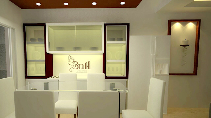 Residential-3BHK-2400sft Modern dining room by BNH DESIGNERS Modern