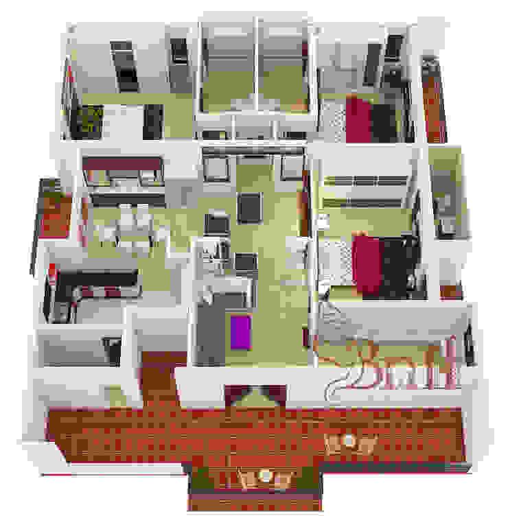 Residential-3BHK-2400sft: modern  by BNH DESIGNERS,Modern