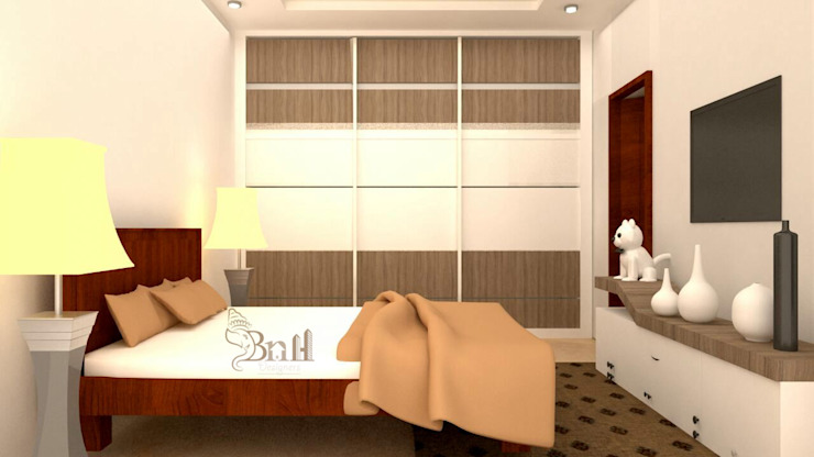 Residential-3BHK-2400sft BNH DESIGNERS Modern style bedroom